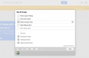 Giao diện ghi chú nhìn từ tài khoản của người được chia sẻ, thay đổi sẽ được đồng bộ theo thời gian thực xuyên suốt Google Keep nền web, trên Android hay trong Chrome