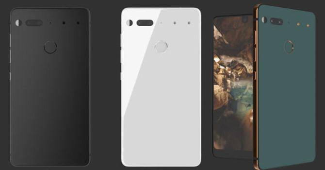 Essential phone có thiết kế khá đặc biệt.