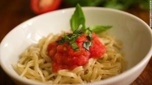 mì spaghetti được làm bởi máy in Foodini