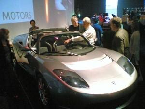 Bữa tiệc ra mắt chiếc Tesla Roadster vào năm 2006