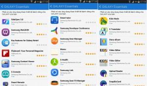 """Rất nhiều ứng dụng """"độc quyền"""" trên kho ứng dụng của Samsung, người dùng Galaxy Note 4 có thể cài đặt theo nhu cầu cá nhân."""