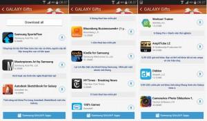 Các ứng dụng đến từ bên thứ 3 được tặng miễn phí hoặc tặng thời gian dùng, người dùng Galaxy Note 4 có thể cài đặt theo sở thích.