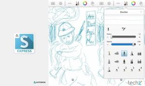 Với nhiều công cụ được tích hợp, Sketbook Express là ứng dụng không thể thiếu cho những ai ưa thích vẽ vỡi