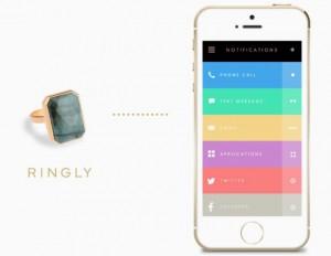 Ringly: chiếc nhẫn cocktail đặc biệt mà bạn có thể tùy biến để nhận thông báo từ các mạng xã hội và... phớt lờ bạn bè tại các buổi tiệc.