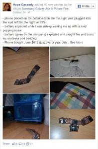 Chia sẻ của Hope Casserly trên Facebook sau khi sự việc xảy ra