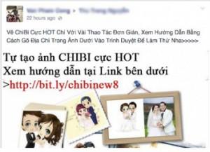 Để vẽ ảnh Chibi, người dùng được yêu cầu chạy một đoạn mã JavaScript thông qua các add-on độc hại, từ đó tiếp tục phát tán spam