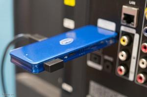 Cắm cái cục receiver không dây này vào để dùng với chuột và bàn phím không dây