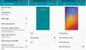 """Tùy chỉnh """"nhỏ"""" ở phần màn hình khóa nhưng góp phần làm tăng giá trị về cá nhân hóa điện thoại rất """"lớn"""" trên Galaxy A5.  """