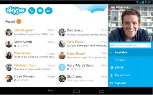 Giao diện Skype trên Android.
