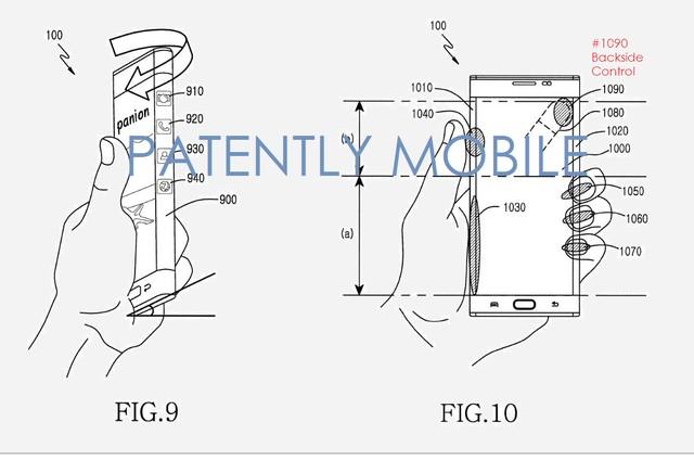 Màn hình cong trên thiết bị của Samsung có thể sẽ được mở rộng ra cả mặt sau