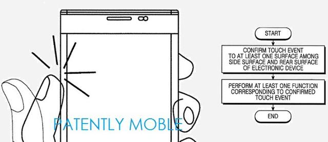 Tính năng cảm ứng trên viền màn hình được mô tả trong bằng sáng chế của Samsung