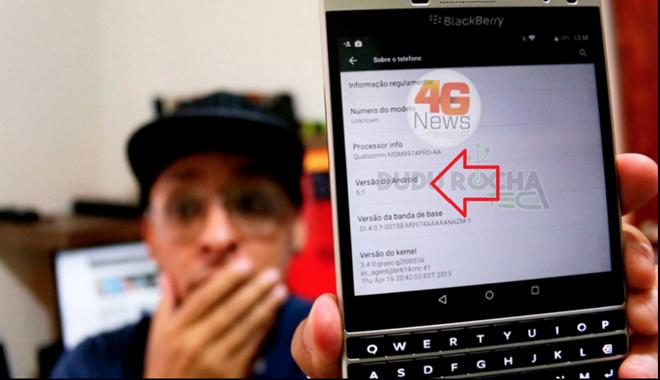Ảnh cho thấy BlackBerry chạy hệ điều hành Android 5.1. Ảnh: Phonearena.