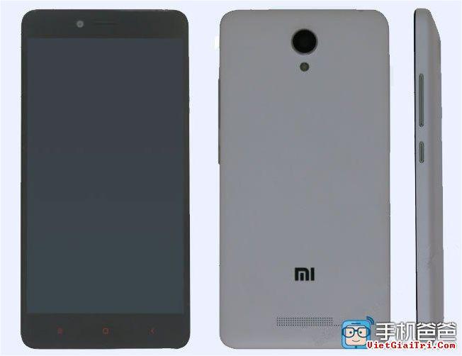 Hình ảnh về Redmi Note 2 được nhà mạng Tenaa tiết lộ.