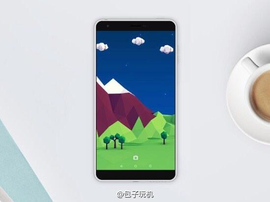 Nokia C1 có tỷ lệ màn hình so với mặt trước lớn. Ảnh: Weibo.