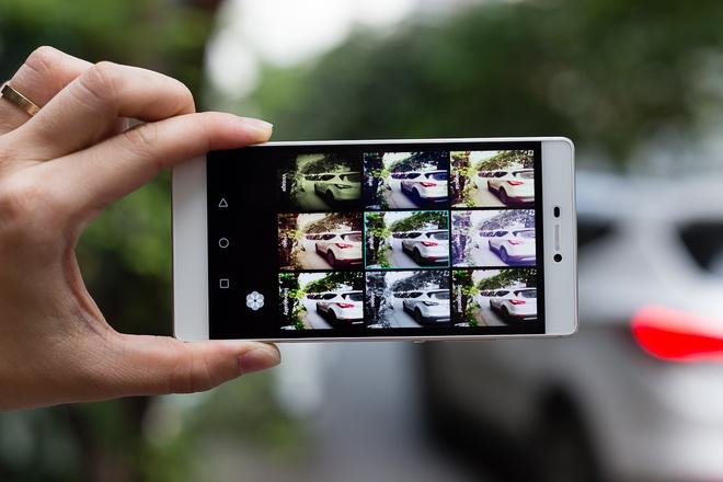 Giao diện chụp hình được thiết kế thoáng, dễ làm quen và hỗ trợ nhiều tính năng mở rộng, hỗ trợ chụp phơi sáng. Tuy nhiên, P8 không có chế độ chụp chỉnh tay Manual.