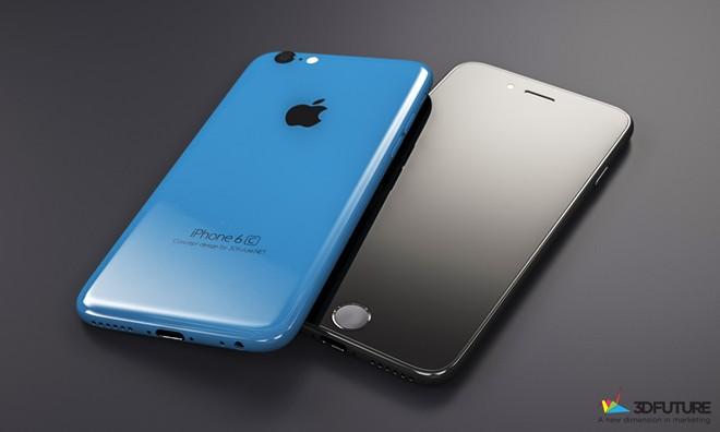 Bản dựng iPhone 6C với thiết kế mặt trước tương tự iPhone 5S của nhóm 3DFuture.