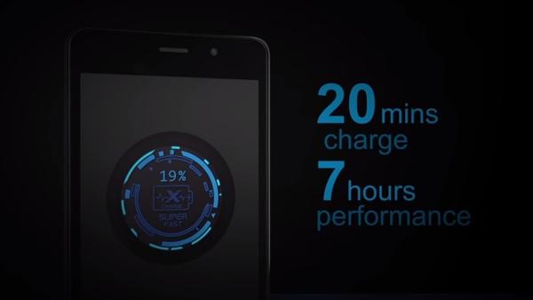 Với công nghệ sạc nhanh, bạn chỉ cần mất thêm 20' sạc để được thêm tới 7 tiếng sử dụng.