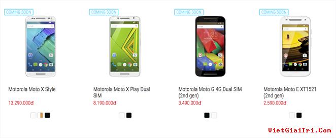 Các mẫu smartphone mới của Motorola sắp được bán chính hãng tại Việt Nam.