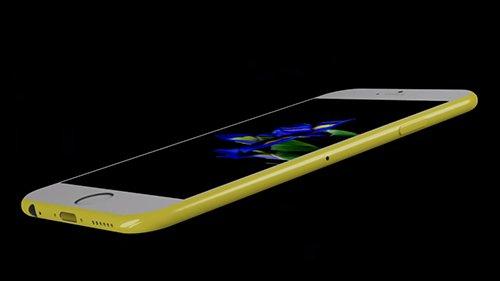 Concept iPhone 7c có dáng mỏng, các cạnh bo tròn.