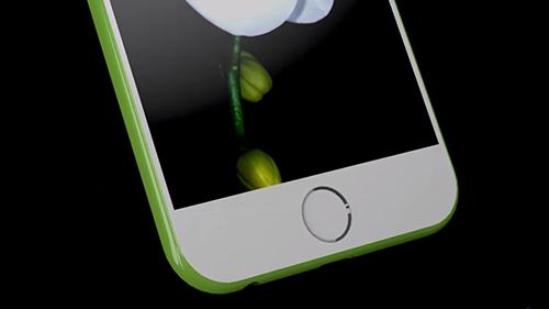 Trong concept này, iPhone 7c có cảm biến vân tay tích hợp vào phím Home.