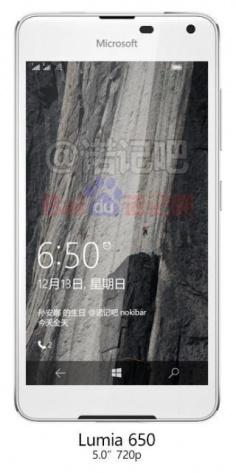 Hình ảnh rò rỉ mới nhất của Lumia 650, khá đẹp và cân đối. Ảnh: Internet