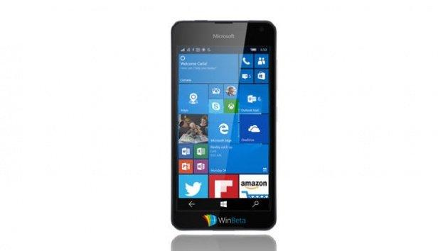 Hình ảnh về chiếc Lumia 650 bị rò rỉ vào khoảng 2 tháng trước. Ảnh: Internet