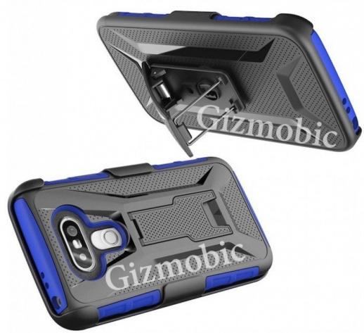 Hình ảnh LG G5 trong bộ case bảo vệ bắt mắt. Ảnh: Internet