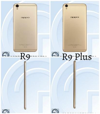 Hình ảnh OPPO R9 và R9 Plus trên TEENA. Ảnh: Internet