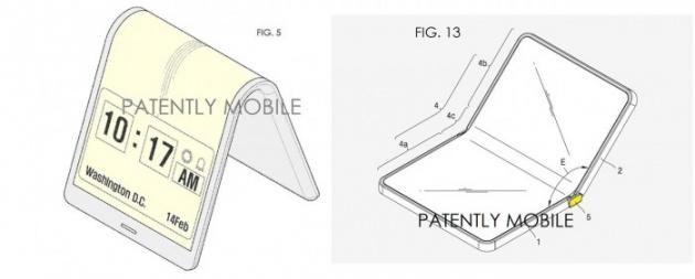 Bằng sáng chế về chiếc smartphone màn hình gập ấn tượng. Ảnh: Internet
