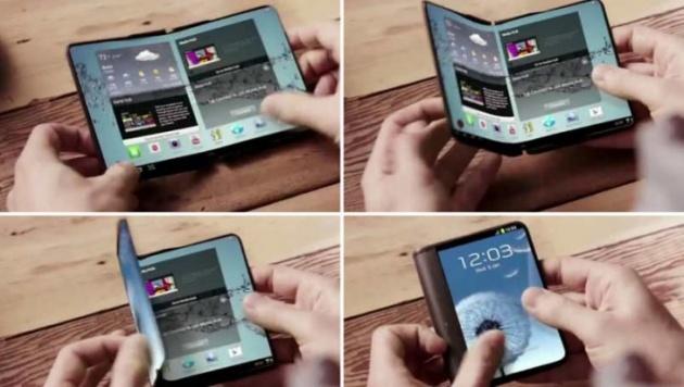 Samsung Electronics đã sử dụng màn hình hiển thị OLED có thể uốn cong của Samsung Display đáp ứng nhu cầu smartphone sở hữu màn hình lớn, song cũng mang lại nhiều sự thuận tiện dành cho người tiêu dùng. Ảnh: Internet