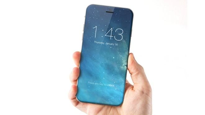 iPhone 8 không viền, loại bỏ nút Home và Touch ID có thể thao tác bất kỳ đầu trên màn hình. Ảnh: Marek Weidlich.