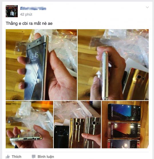 Một người dùng chia sẻ bộ ảnh chi tiết về Note 7 tại Việt Nam.