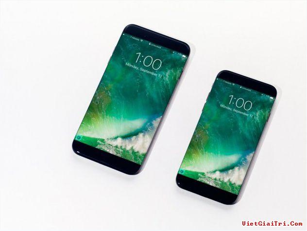 Concept iPhone 8 với màn hình tràn cạnh.