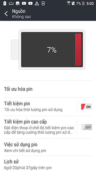 Hình ảnh chụp màn hình từ sản phẩm HTC 10 PRO.