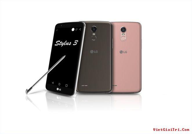 Theo hình ảnh công bố, LG Stylus 3 sẽ có 3 màu. Ảnh: CNET.