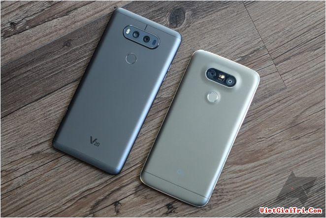LG V20 và G5 sẽ bán chính hãng tại Việt Nam sau dịp Tết âm lịch. Ảnh: Android Police.