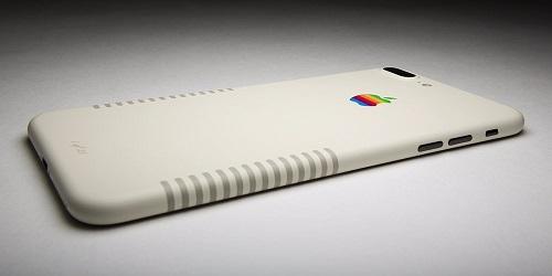 iPhone 7 Plus phong cách Retro năm 1980 với màu sơn Apple Mac