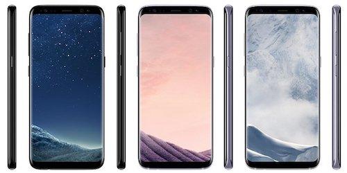 """Những hình ảnh được cho là phong cách thiết kế """"màn hình vô cực"""" trên Galaxy S8."""