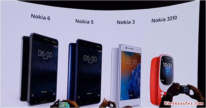 Loạt điện thoại Nokia mới. Ảnh: Cnet.