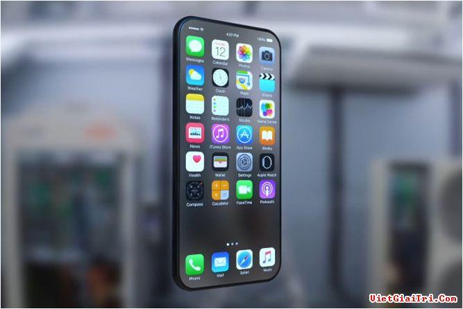 Một bản thiết kế iPhone 8 với màn hình bao phủ toàn bộ phía trước. ẢNH: BGR