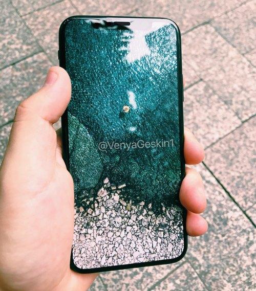 """Concept iPhone 8 với phím Home """"biến mất""""."""