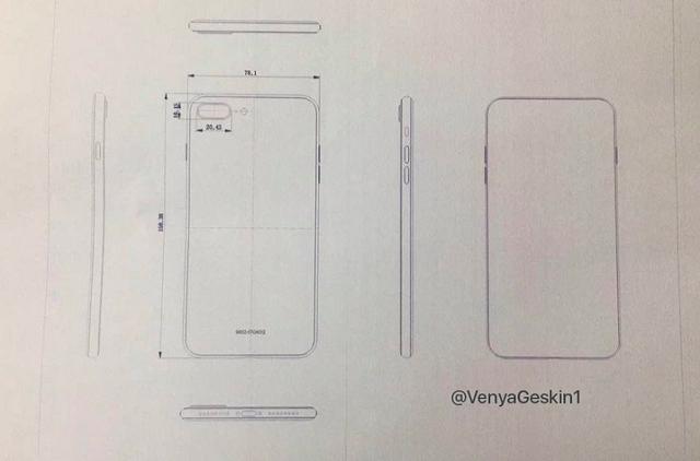 Bản vẽ kích thước của iPhone 7s Plus