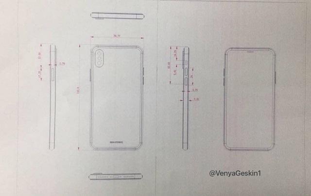 Bản vẽ kích thước của iPhone 8
