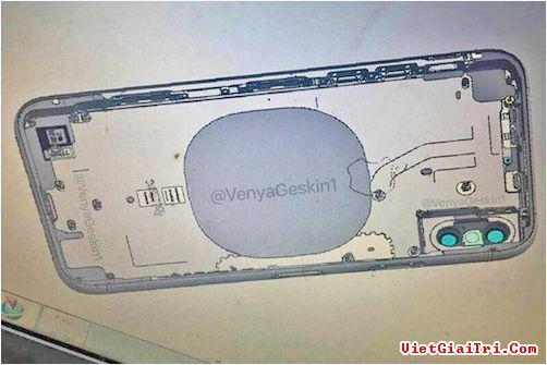 Ảnh được cho là bản vẽ thiết kế iPhone 8 với tính năng sạc không dây.