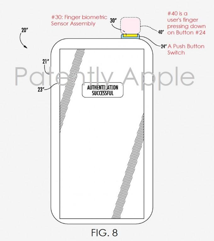 Hình ảnh mô tả bằng sáng chế của Apple.
