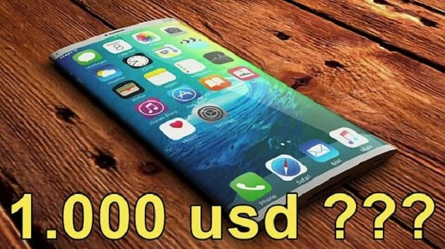 Cả iPhone 8 và Galaxy Note 8 đều có tin đồn giá bán ra sẽ là 1000 USD.