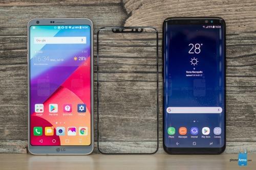 Bảo vệ màn hình iPhone 8 và LG G6 và Galaxy S8.