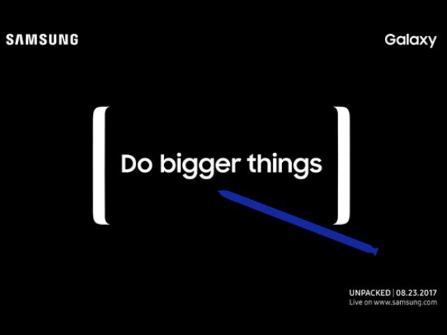 Samsung gửi thư mời sự kiện Galaxy Note 8 vào ngày 23/08