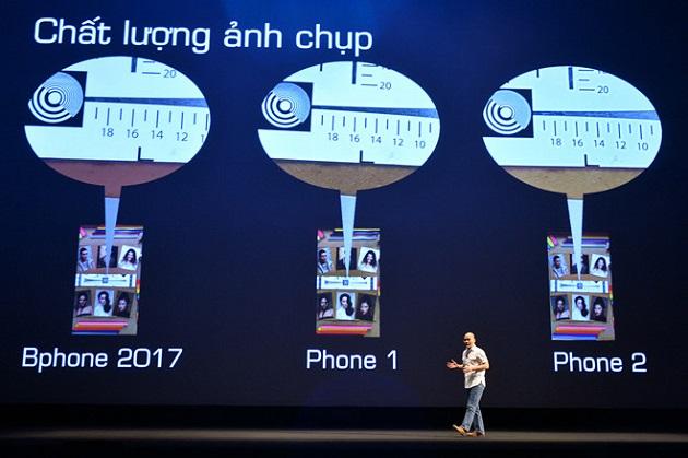 Là mẫu smartphone cận cao cấp nhưng chất lượng chụp ảnh của Bphone tương đương máy cao cấp.