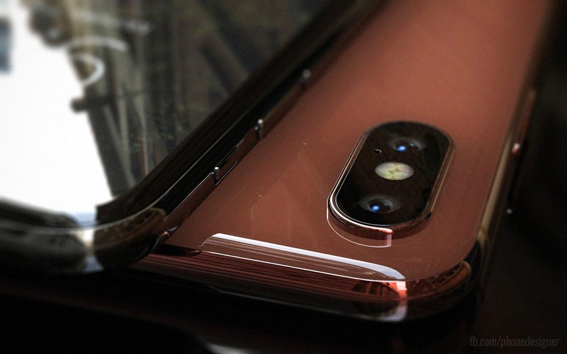 Hình ảnh iPhone 8 màu vàng đồng qua mô phỏng của Jonas Daehnert (Ảnh: Jonas Daehnert)